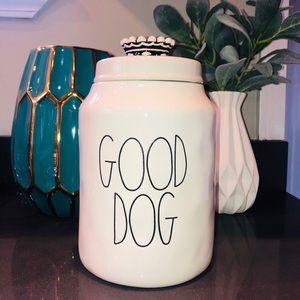 Rae Dunn Large Good Dog Treat Canister